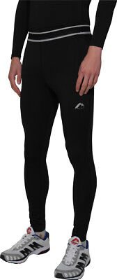 More Mile Compression Mens Long Running Tights - Black