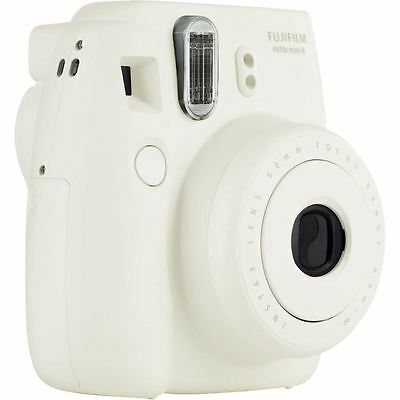 Fuji Instax Mini 8 Instant Photo Camera White Instant Pictures in seconds, New
