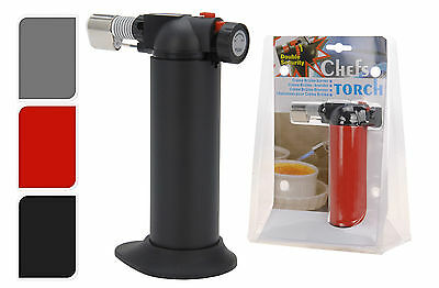 Chefs Butane Creme Brulee Cooking/Cooks Micro Blow Torch also Soldering Lighter