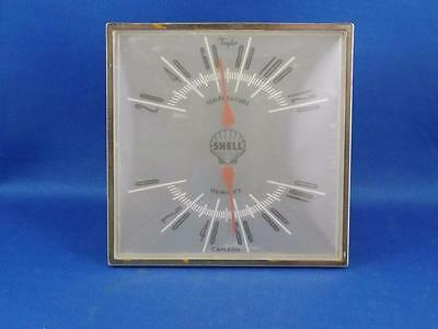 Taylor Thermometer Barometer Shell Gas Oil Service Station Advertise Made Canada