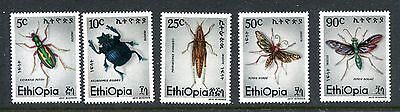Ethiopia 854-858, 1977 Insects, Mnh,  (Id5329)
