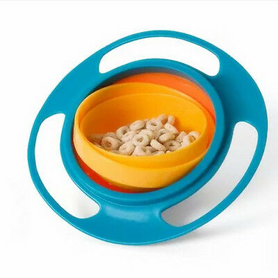 Universal 360 Rotate Spill-Proof Bowl Dishes Kid Baby Toy High Quality