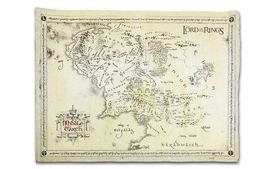 LORD OF THE RINGS POSTER ~ PARCHMENT MIDDLE EARTH MAP 18x26 Movie Shire Hobbit