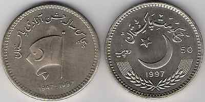 Pakistan 50 Rupees 50 th anniversary 50 years Independence 1947 1997 UNC