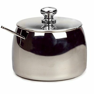 RSVP 8 Ounce Sugar Bowl W/ Spoon Serving Coffee Stainless Steel Endurance CAFE-2
