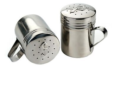 RSVP 18/8 Stainless Steel Salt & Pepper Stovetop Grill Sized Shaker Set of 2 NEW