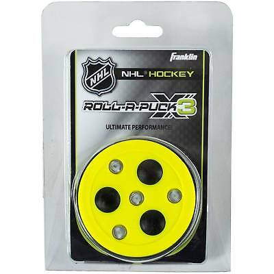 Franklin Sports Roll-A-Puck X3 Street Roller Hockey with Rollers Color Varies