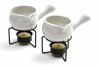 Norpro 3oz BUTTER WARMERS Set of 2 Ceramic Melted Butter/Sauces Dishwasher Safe