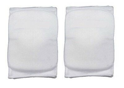 Martin Sports Volleyball Basketball Knee Pads White, Large 1 Pair Elastic Sleeve