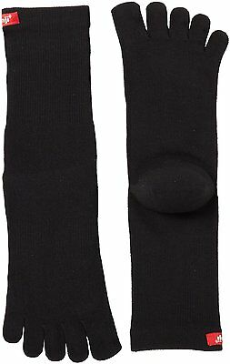 Injinji Performance Sport Original Weight Crew CoolMax Toe Socks- Black-XL