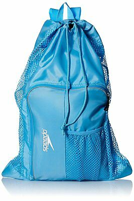 Speedo Swim Deluxe Ventilator Mesh Equipment Pool Gear Bag - Light Blue Grotto
