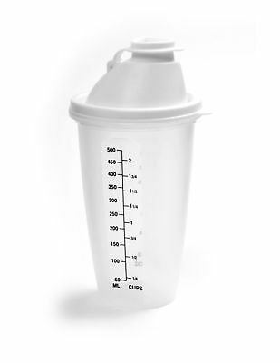 Norpro Measure Mix Salad Dressing Drink Sauce Shaker 2 Cup/500ml w/ Mixing Blade