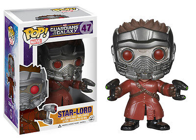 Funko Pop Marvel Guardians Of The Galaxy - Star-Lord Bobble Vinyl Action Figure