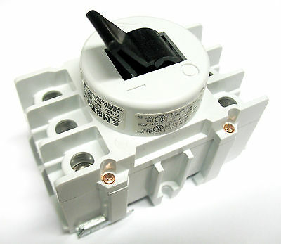 Ensto 80 Amp 3 Pole Phase Disconnect Switch Toggle Type Din Rail Motor Load 54A