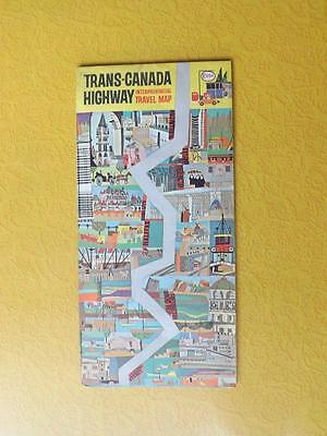 Map Trans-Canada Highway Interprovincial Travel 1965 Esso Gas Service Advertise
