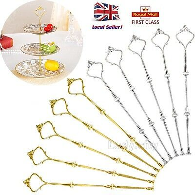 UK SALE 3 Tier Crown Shape Party Wedding Cake Cupcake Plate Stand Handle Fitting