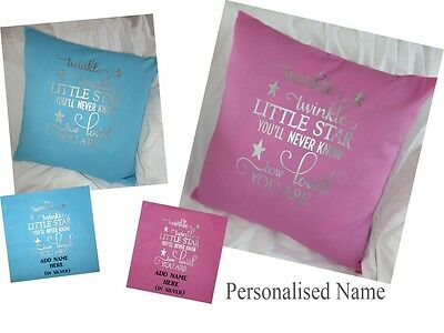 Personalised Cushion Cover Children/Nursing Cushion Twinkle Twinkle little star