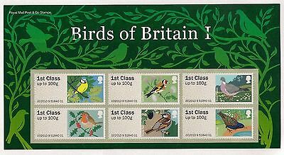 2011 Birds of Britain I. Post & Go Stamps sheet. Superb condition.