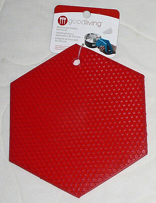 Good Living Silicone Pot Holder Trivet Heat Resistant Textured Honey Comb