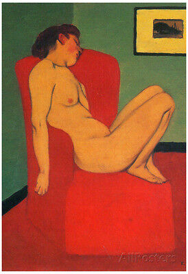 Felix Vallotton Nude in a Red Armchair Art Print Poster Poster Print, 13x19