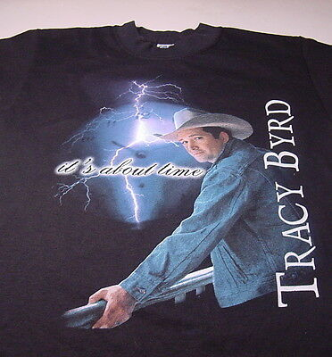 """Country Music TRACY BYRD """"It's About Time"""" (Youth Large 14-16) T-shirt"""