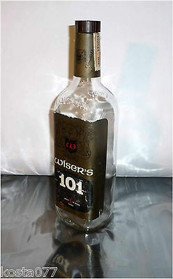 Vintage, 1966 WISER'S 101, 25FL.OZS. Canadian Embossed Whisky Bottle