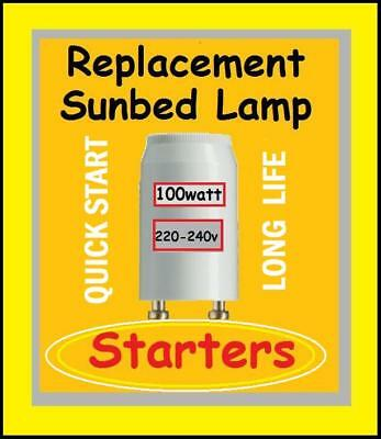 6 x Starters for Fluorescent lamps & Philips Sunbed Tanning Tubes etc 70w -125w