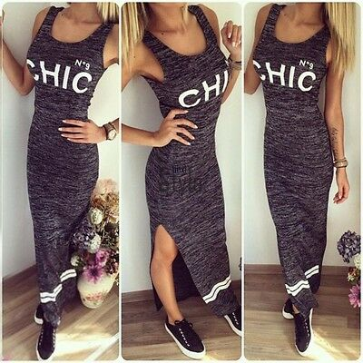 UK Womens Sexy Slim Bodycon Bandage Ladies Party Cocktail Long Maxi Pencil Dress