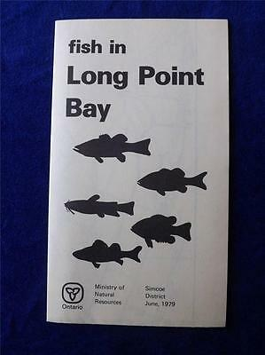 Fish In Long Point Bay Brochure 1979 Ministry Natural Resources Marina Info