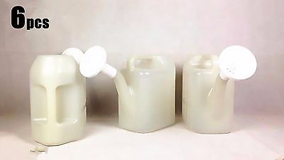 6x 5L Small Watering Can Watering Flowers Plant Garden Tools Plastic White #4828