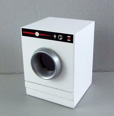 Melody Jane Dolls House Washing Machine Washer Dryer Miniature White Wood