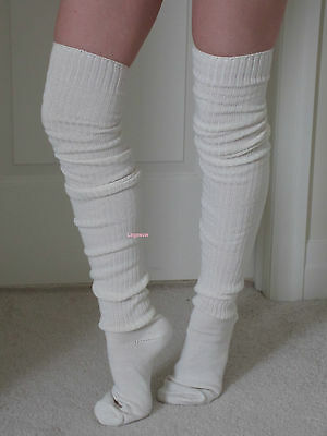 69a78ee4a5f Long Over The Knee Slouch Socks OTK Thigh High Beige Black Loose Japanese  School