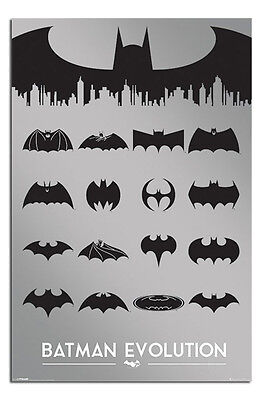 Poster - Batman Logo Evolution - Officially Licensed New Maxi Size 36 x 24 Inch