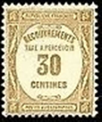 """FRANCE STAMP TIMBRE TAXE N° 57 """" RECOUVREMENT 30c. BISTRE """" NEUF x TB"""