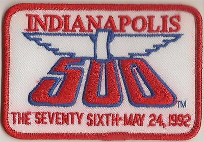1992 Indianapolis 500 Event Emblem Collector Patch Indycar Indy 500