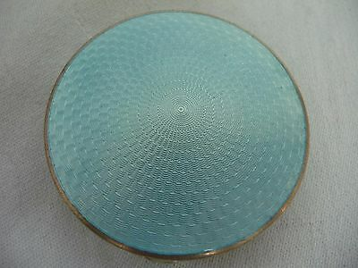 Lovely Antique Guilloche Enamel Sterling Compact