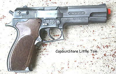 NewLittle Tom Automatic Cap Gun Die Cast Metal CapGunPistol Fires 8 shot 26001