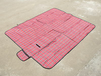 Red Outdoor Waterproof Beach Camping Picnic Carry Mat Rugs Blanket 70'x59''