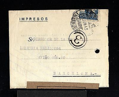 10001-SPANISH MOROCCO-WRAPPED CENSOR JOURNAL TETUAN to SPAIN.1943.WWII.Marruecos