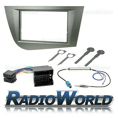 Seat Leon MK2 Double Din Car Stereo Radio Fascia ISO Aerial Fitting Kit Surround