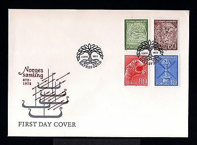 10011-NORWAY-FIRST DAY COVER HAFRSFJORD.1972.SET unification.NORGE.Norvege.FDC