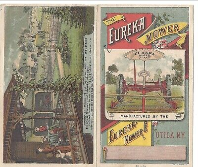 4 Page, Good Color Illustrations, Eureka Mower Co., Utica, NY, c1880s