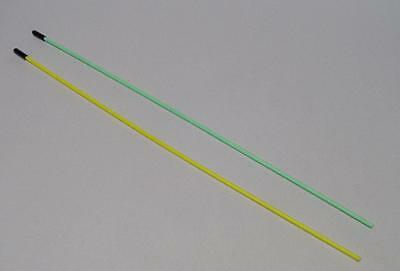 RC Antenna Tube x 2  Green & Clear for RC 365 mm Long x 3.5 mm dia.