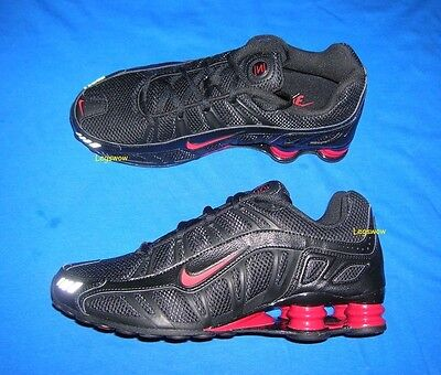 Nike Shox Turbo 3.2 SL Running Sneakers Shoe Black Red Mens 8.5 New Trainers Gym