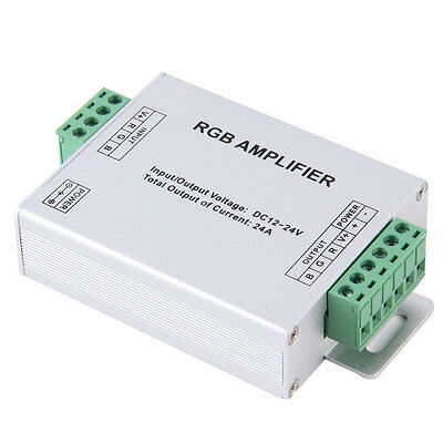 24A Amplifier Repeater For Extend Signal LED 5050 3528 RGB Strip Light UD