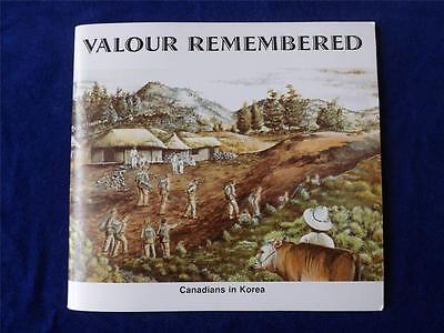 Valour Remembered Canadians In Korea Book Veteran Affairs French & English 1995