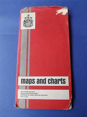 Canadian Topographical System Map Chart Kit Order Forms 1969 1970 8 Pc + Folder