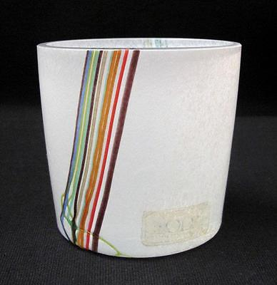 Kosta Boda Sweden Rainbow Art Glass Vase Signed Bertil Vallien Scandinavian
