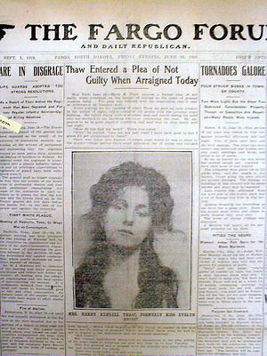 10 1906 newspapers HARRY THAW murders STANFORD WHITE over sex with EVELYN NESBIT