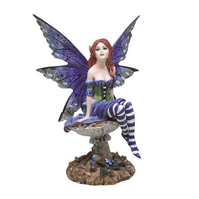 BOTTOM OF THE GARDEN FAIRY Figurine Faery Figure Amy Brown elfe faerie statue